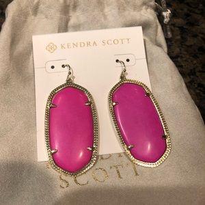 Kendra Scott Pink Danielle Statement Earrings